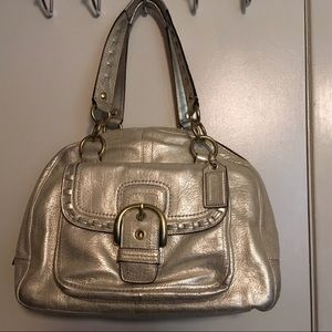 Metallic Coach Leather Purse New